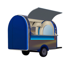 Street Mobile Trailers Sale with Wheels Color Support Output Catering Weight