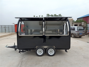 TUV Verified 3m Length Food Truck Mobile Food Trailer With 2 wheels for sale US