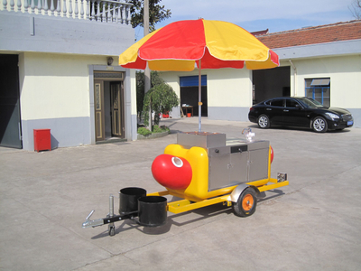 Fast Food Mobile Kitchen Trailer Food Kiosk Cost Hot Dog Cart For Sale