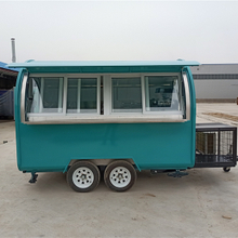 2021 New Design Food Truck Street Fast Food Trailer with Sliding Window for Sale
