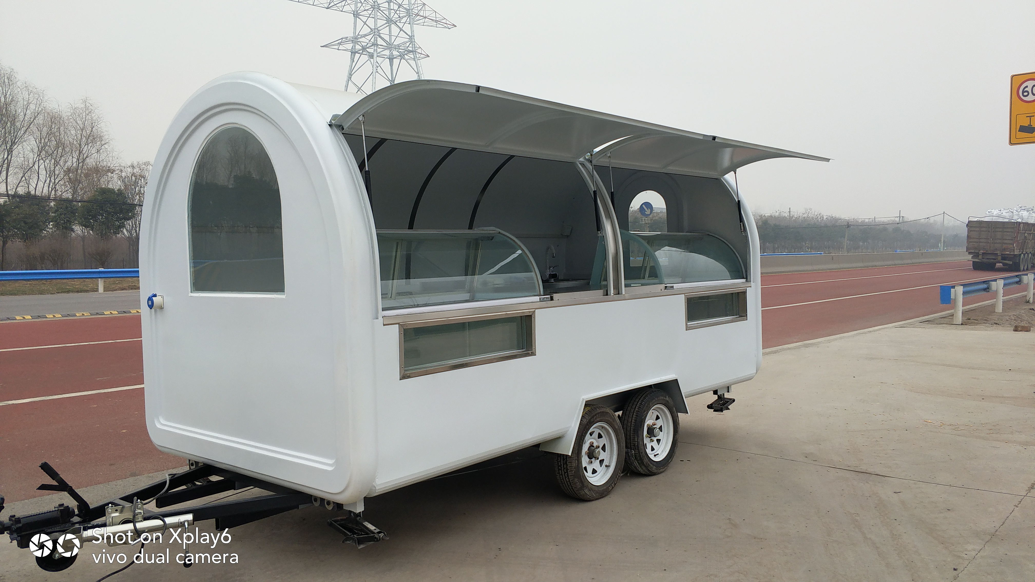 Customized Food Trucks Mobile Concession Food Trailer For Sale