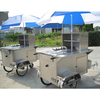 Trailer Type Full Stainless Steel Tricycle Hot Dog Vending Cart