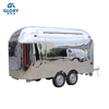 Shiny Stainless Steel China Supply Produce Airstream Food Truck for Sale Europe