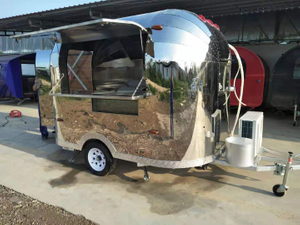 New Design World Concession BBQ Fast Food Van Airstream Catering Vending Trailer Mobile Food Truck Cooking Trailer Kiosk