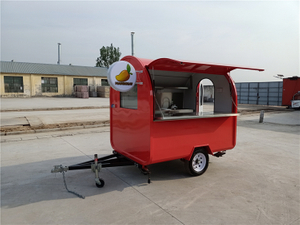 Wholesale Towable Customized Color Food Kiosk Beverage Hotdog Donut Food Carts With Kitchen