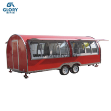 Trailer Type Fiberglass Mobile Street Outdoor Food Kiosk for Sale