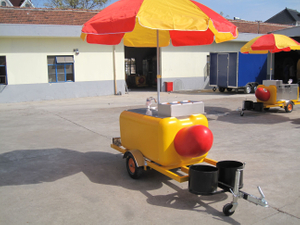 British Popular Street Small Hot Dog Cart with Grill