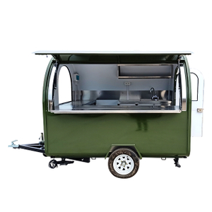 2.5M Length Hamburger Vending Catering Food Trailer for Europe Vendors Hot dog Food Cart