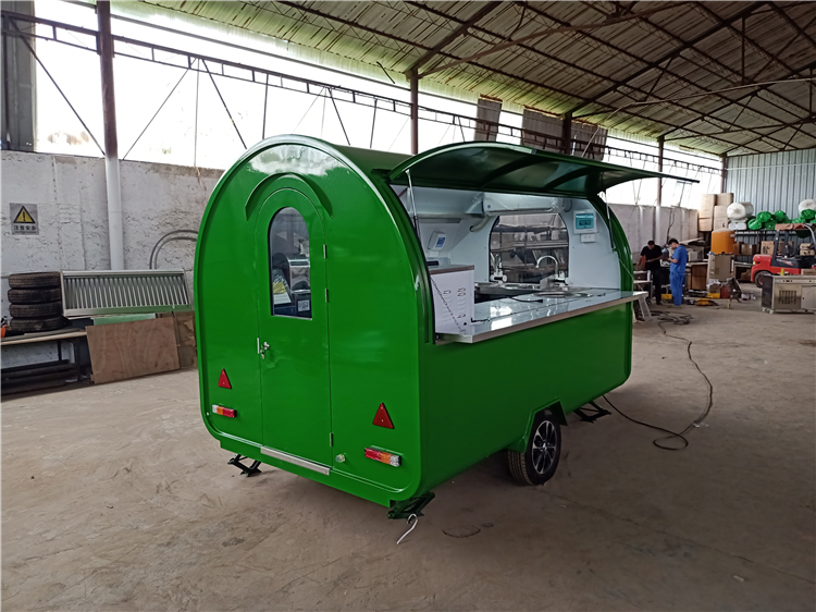 New 3.5m Mobile Bbq Food Trailer Australia Street Sanck Food Trailer With Cooking Equipment