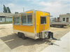 Italy Hot Dog Cart Snack Street Fast Food Truck with 2wheels