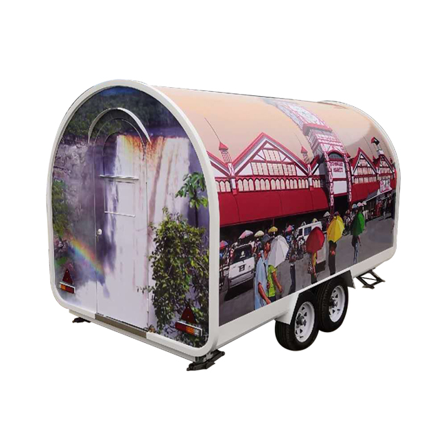 Custom Color Vending Food Cart for Sale American Fast Food