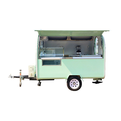China Street Food Truck Boiled Peanut Cart with Ice Cream Machine for Street Snack Cart Business